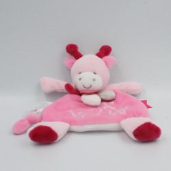Doudou et compagnie plat vache rose Unicef