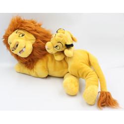 Peluche le roi lion Simba Mufasa et Simba DISNEY PARKS