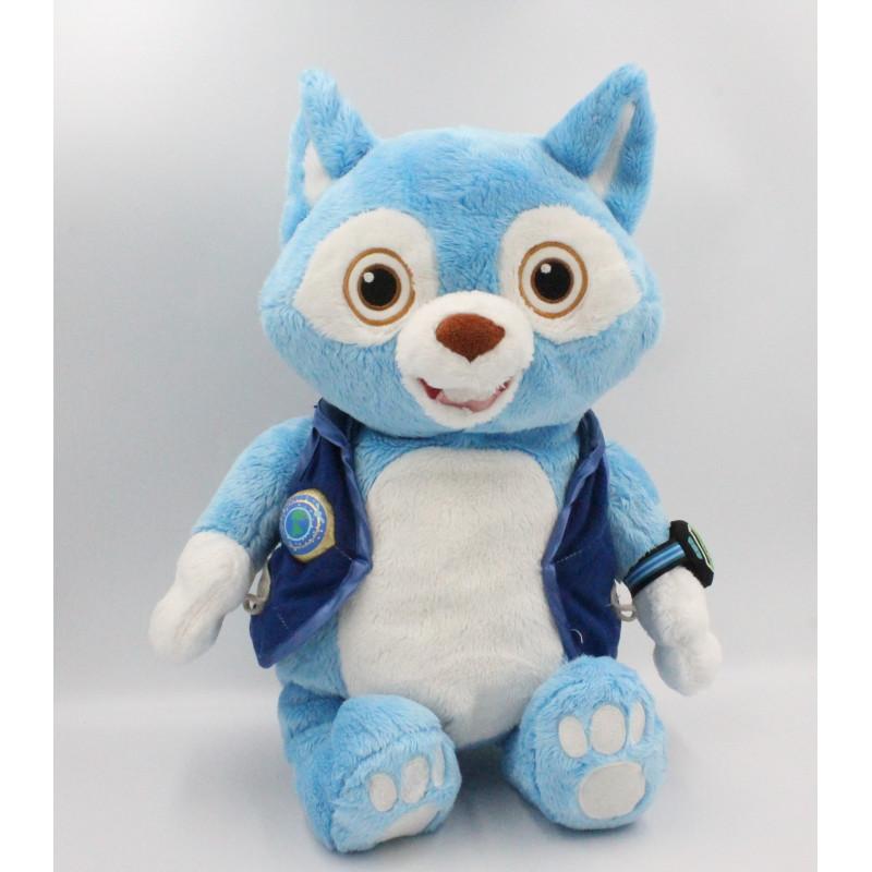 Peluche renard chat bleu blanc Wolfie agent Oso Disney Store