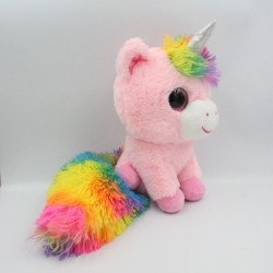 Doudou licorne rose arc en ciel ZDT ACTION