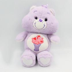 Peluche Bisounours mauve violet Groscadeau Milkshake CARE BEARS