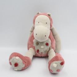 Doudou hippopotame Les Zazous rose MOULIN ROTY