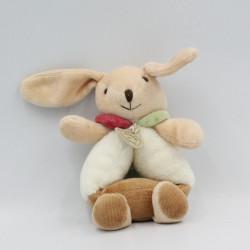 Doudou et compagnie hochet lapin Pim marron blanc fourmi