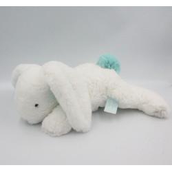 Doudou et compagnie lapin blanc bleu Pompon