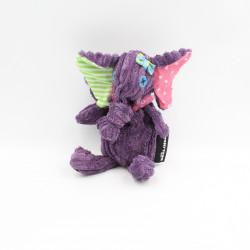 Doudou éléphant violet Sandykilos DEGLINGOS