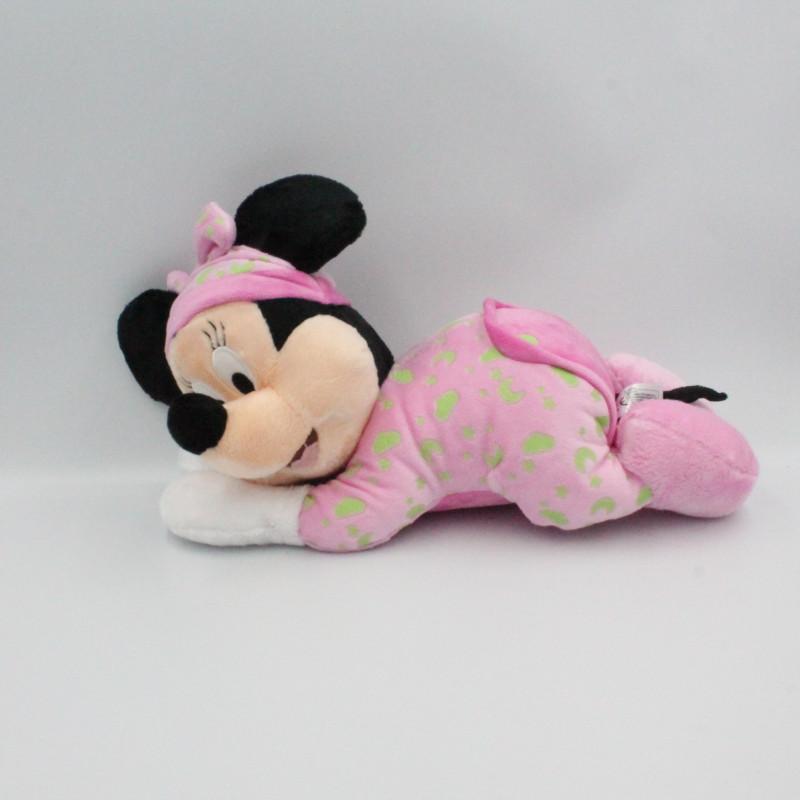 Doudou luminescent Minnie rose Brille dans la nuit DISNEY