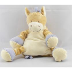 Doudou ane cheval zébre beige bleu BENGY