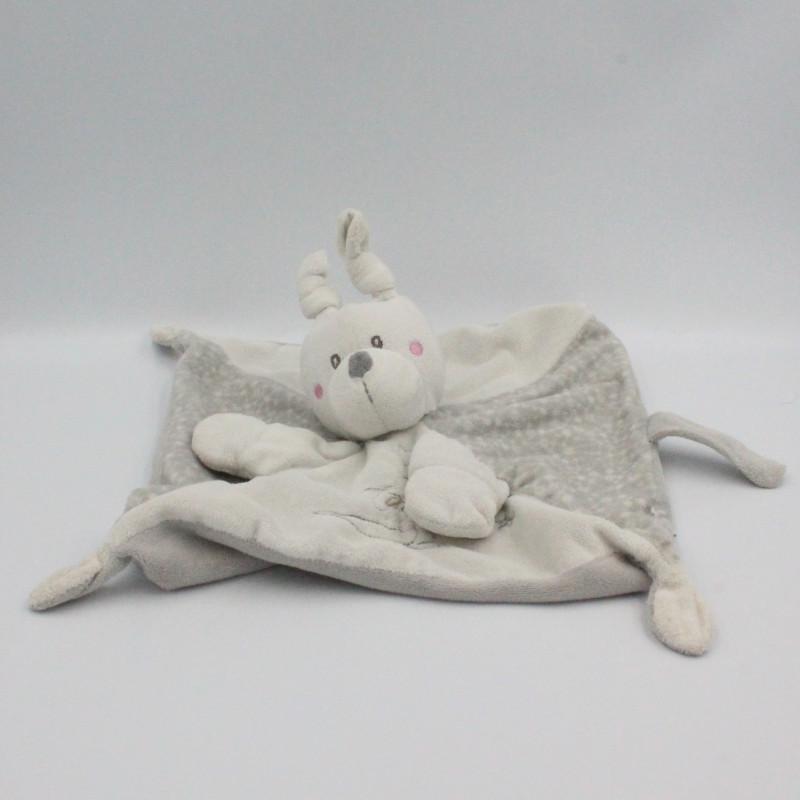 Doudou plat lapin gris blanc KIABI SIMBA TOYS