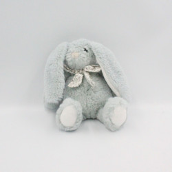 Doudou lapin bleu gris BOUCHARA COLLECTION EURODIF