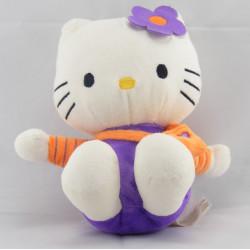 Doudou chat HELLO KITTY violet sac orange SANRIO LICENSE