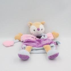 Doudou marionnette biche rose bleu il était une fois Baby Nat