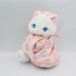 Doudou peluche chat Marie Aristochats dans un sac baluchon DISNEY