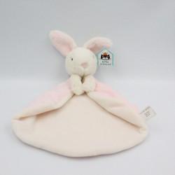 Doudou plat lapin blanc rose JELLYCAT
