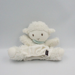 Doudou marionnette mouton blanc KALOO