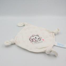 Doudou plat carré chat blanc Marie les Aristochats DISNEY CARREFOUR