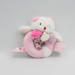 Doudou et compagnie hochet ours blanc rose Les Gommettes