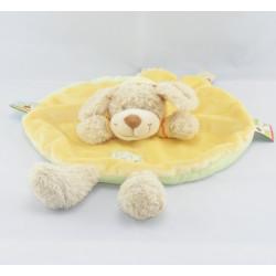 Doudou plat chien sweat capuche jaune NICOTOY