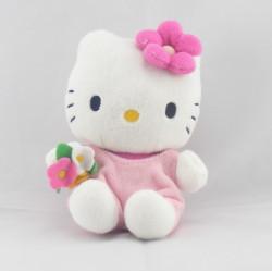 Doudou chat HELLO KITTY rose SANRIO LICENSE