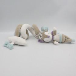 Spirale d'activités doudou biche faon élan gris blanc violet bleu Amour SAUTHON