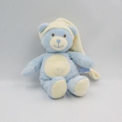 Doudou ours bleu blanc...