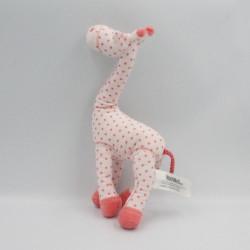 Doudou girafe rose étoiles TAPE A L'OEIL