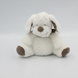 Doudou chien blanc beige étoiles INFLUX 15 cm