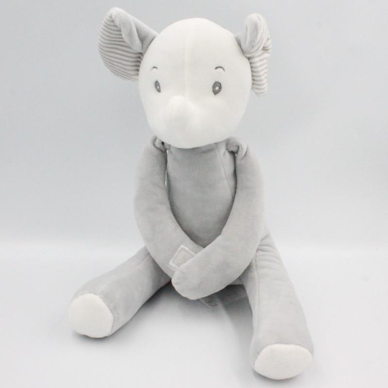 Doudou éléphant gris TOM & KIDDY TOMKIDS