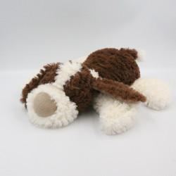 Doudou peluche chien marron blanc NATURE COLLECTION