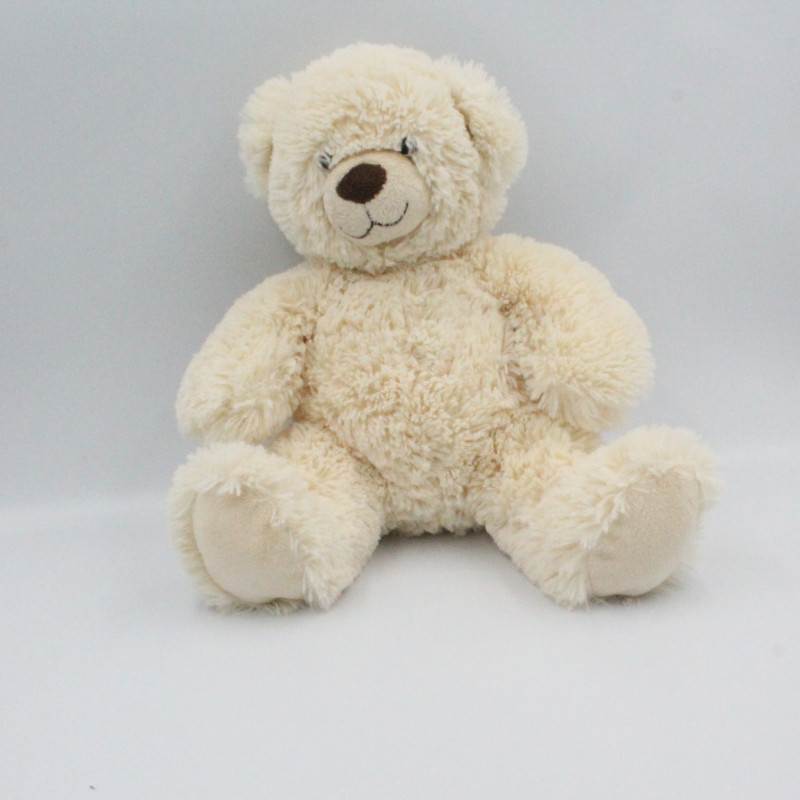 Doudou peluche ours écru beige GIPSY
