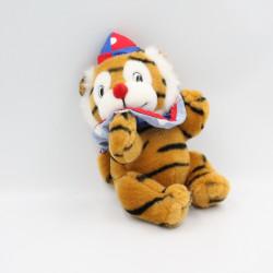 Ancienne peluche tigre clown cirque JEMINI
