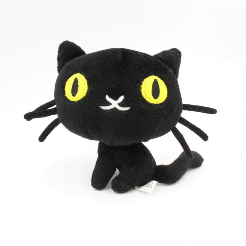Doudou peluche chat noir PUCCA