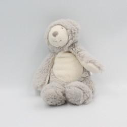 Doudou ours gris blanc La Bande à Basile MOULIN ROTY