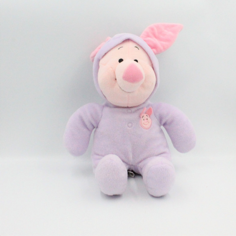 Doudou cochon Porcinet en pyjama mauve DISNEY NICOTOY