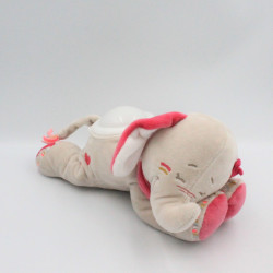 Doudou veilleuse éléphant gris rose Anna et Pili NOUKIE'S
