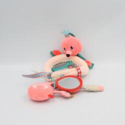 Mobile d'activités doudou oiseau flamand rose LILLIPUTIENS