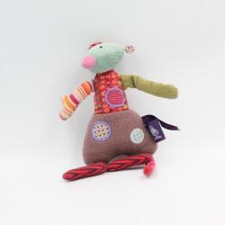 Petit Doudou souris rose vert Les Jolis pas beaux MOULIN ROTY