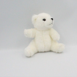 Doudou peluche ours polaire blanc