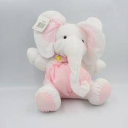 Peluche Puffalump éléphant blanc rose Complete rapport BIKIN