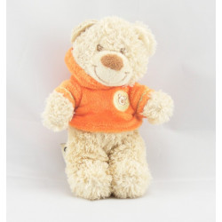 Doudou musical ours sweat capuche orange NICOTOY