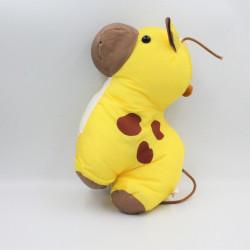 Peluche Puffalump girafe jaune en toile JOUME