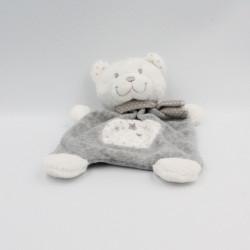 Doudou plat ours blanc gris étoiles TEX NICOTOY