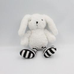 Doudou lapin blanc noir...