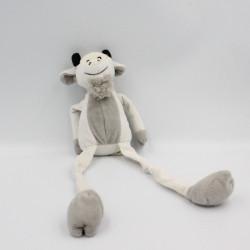 Doudou chèvre bouc blanc gris noir aux longues pattes LES PETITES MARIE
