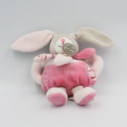 Doudou et compagnie hochet lapin rose pétale Célestine