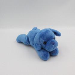 Doudou chiot chien bleu couché MAX ET SAX