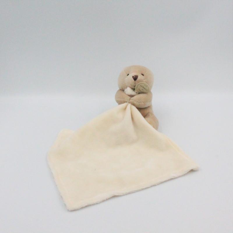 Doudou et compagnie Ours beige avec mouchoir