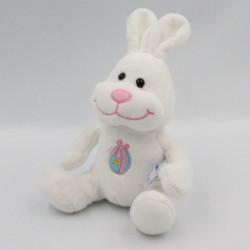 Doudou lapin blanc oeuf de...