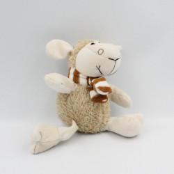 Doudou mouton beige marron GMBH
