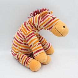 Doudou zèbre orange rouge HAPPY HORSE