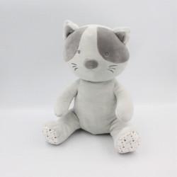 Doudou chat gris étoiles lunes